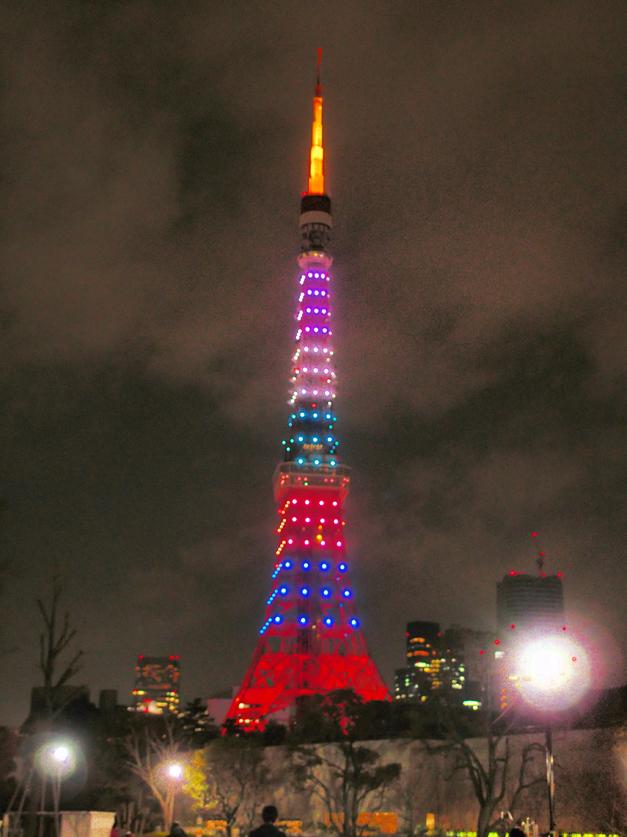 東京タワー嵐ライティング