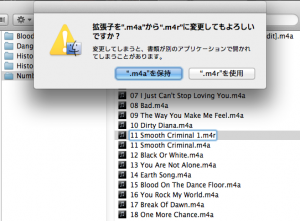 iTunesフォルダ画面